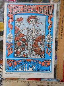 Grateful Dead skeleton and roses FD-26-3 original 13 7/8 x 19 7/8