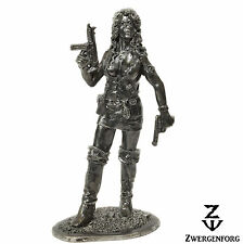 Tin Toy SOLDIER 54mm PIRATE Girl MODERN Piracy FEMALE Corsair Metal Tin Figure