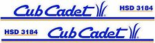 CUB CADET HSD 3184 HOOD DECAL SET