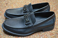 MARC ANTHONY MEN'S OXFORD BLACK LEATHER DRESS SLIP ON LOAFER~ 7M-EXCELLENT
