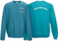 Fishing club Sweatshirt with customised logo! Rear text also available! Design 1