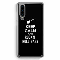 Keep Calm And Rock N´ Roll Baby Huawei P30 Hülle Motiv Design Spruch Cool Mus...