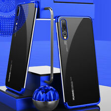 For Huawei P20/P20 Pro Lite Slim Hybrid Clear View Plating Silicone Case Cover
