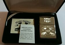 Pearl Harbor ZIPPO, Silver Plate & 24ct Gold Plate Inlay, Numbered Ltd Edition