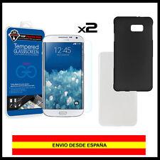 PACK 2x Protector pantalla cristal templado para Samsung Galaxy J1 Mini + Funda