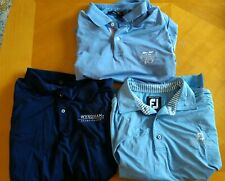 Golf Polo Shirts (Lot Of 3) Men's Large Blue Wyndham Championships FJ RL NC 75 L