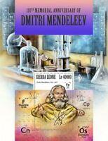 Sierra Leone - 2017 Dmitri Mendeleev - Stamp Souvenir Sheet SRL171118b