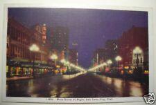 MAIN STREET SALT LAKE CITY UTAH 1942 POSTCARD
