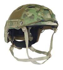 A-TACS FG Camouflage US Helm FAST PJ Army Helmet w. Rails