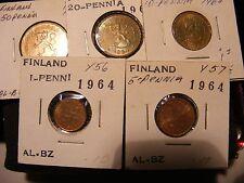 FINLAND 1964 MINT SET, 5 COINS
