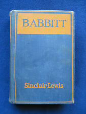 BABBITT by SINCLAIR LEWIS 1st Edition, 1st Issue - Sample Copy with Stamp
