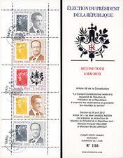 """PRES12-9C Carnet Porte-timbres """"2e TOUR Election Présidentielle France"""" 2012"""