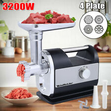 3200 Watt Meat Grinder Electric Heavy Duty Industrial Sausage Maker w/4 Blade