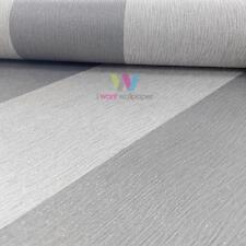 Holden Décor Harrison Stripe Pattern Wallpaper Glitter Motif Textured Roll 35369