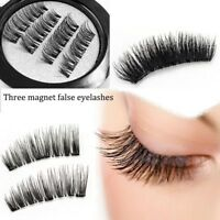 4Pcs Magnetic Eyelashes 3D Handmade Reusable False No-glue Magnet Eye Lashes