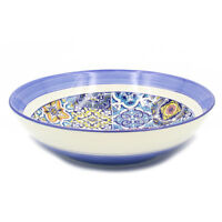 Hand-painted Traditional Portuguese Ceramic Round Salad Bowl