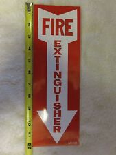 "(1-SIGN) 4"" X 12 SELF-ADHESIVE VINYL ""FIRE EXTINGUISHER ARROW"" SIGN...NEW"