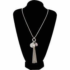 PHASE EIGHT Eleanor Silver Tone Tassel Pendant Necklace, RRP £29