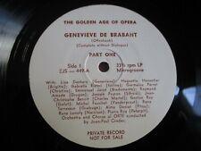 LP LINA DACHARY Genevieve de Brabant Offenbach PRIVAT RECORD PROMO