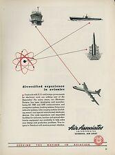 1951 Air Associates Ad Aircraft Parts Supply Atom Graphics & Convair B-36 Bomber