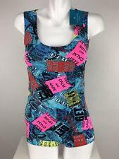 Candida Maria Brazilian Sleeveless Backless Body Suit Sz S/M Street Smart Print