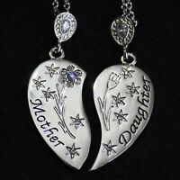 Mum Heart Necklace Silver Jewellery For Her Mother Mom Daughter Women Gifts
