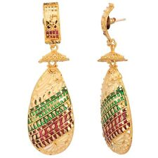 Indian Gold Plated Bollywood 22K Multi Stripes Fashion Jewelry Jhumka Earrings