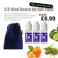 Beard Oil  JAYSBEARDS 10ml each Bergamot + Cedarwood + Sweet Orange + Gift bag