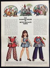 Betsy McCall Mag. Paper Doll, Betsy McCall & the Haunted House, June 1973