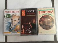 Lot of 3 - Christmas Cassette Tapes - Bing Crosby Kenny G And More Holidays