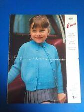 EMU Girl's Twin Set Knitting Pattern 6351