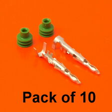 10 x Genuine DELPHI Male Pin Terminals & Seals for Weather-Pack Sealed Series