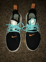 Used Nike Acalme Women's Athletic Shoes Size 7-AQ7459 003 Black Amber Rise-Rare!