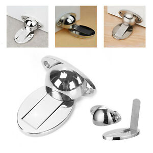 Premium Magnetic 304 Stainless Steel Door Stop Stopper Holder Catch  Adhesive