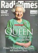 RADIO TIMES OTHER QUEEN DIAMOND JUBILEE Agutter Feb 2012 TV Magazine Collectable