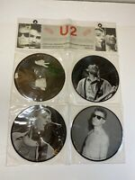 "U2-LIMITED EDITION INTERVIEW PICTURE DISC COLLECTION 4X7"" VINYL 1987"