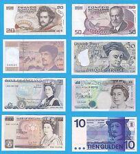 Banconote Austria Francia Gran Bretagna Olanda (Lotti Vari)