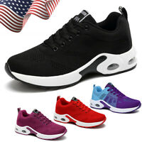 Women's Air Cushion Sneakers Walking Breathable Casual Sports Running Shoes Gym
