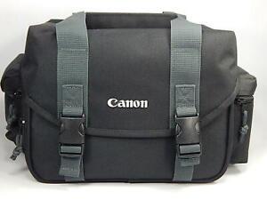 Canon Digital SLR Camera Multi-Compartment Adjustable Divider Shoulder Bag Black