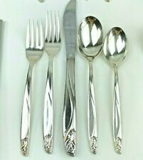 International Silver Deep Silverplated Anniversary Rose Flatware Service For 12