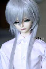 """1/3 8-9""""BJD Wig Dal Pullip BJD SD LUTS MSD DOD DD Dollfie Doll Long Gray wigs"""