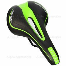 Bicycle Bike Cycle MTB Saddle Road Mountain Sports Soft Gel Pad Seat Green UK