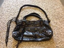 Super Rare! Balenciaga First Flat Studs Black Purse Bag