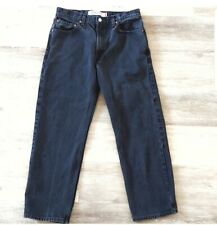 LEVI'S 550 Men's Relaxed Fit Black Jeans Size 34X30