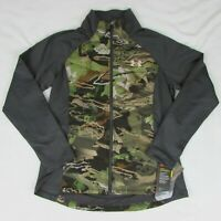 Under Armour Womens Infrared Coldgear Forest Camo Jacket New Zip Up Coat $149