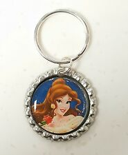 BELLE BEAUTY AND THE BEAST  * Bottle Cap with Keyring