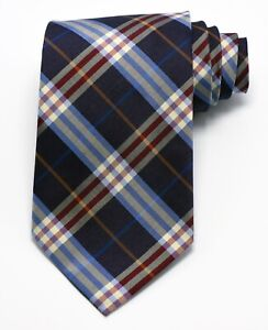 """NEW Burberry BLUE PLAIDS Mans 100% Silk Tie Authentic Italy Made 3.5"""" 0350225"""