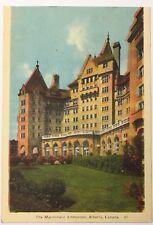 Old Vintage Linen Era Postcard The Macdonald Edmonton, Alberta, Canada Unposted
