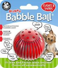 Pet Qwerks Small Blinkey Babble Ball Flashes & Sounds Toy for Dogs
