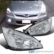 For Honda 2003-2007 Accord JDM Replacement Chrome Head Lights Driving Head Lamps
